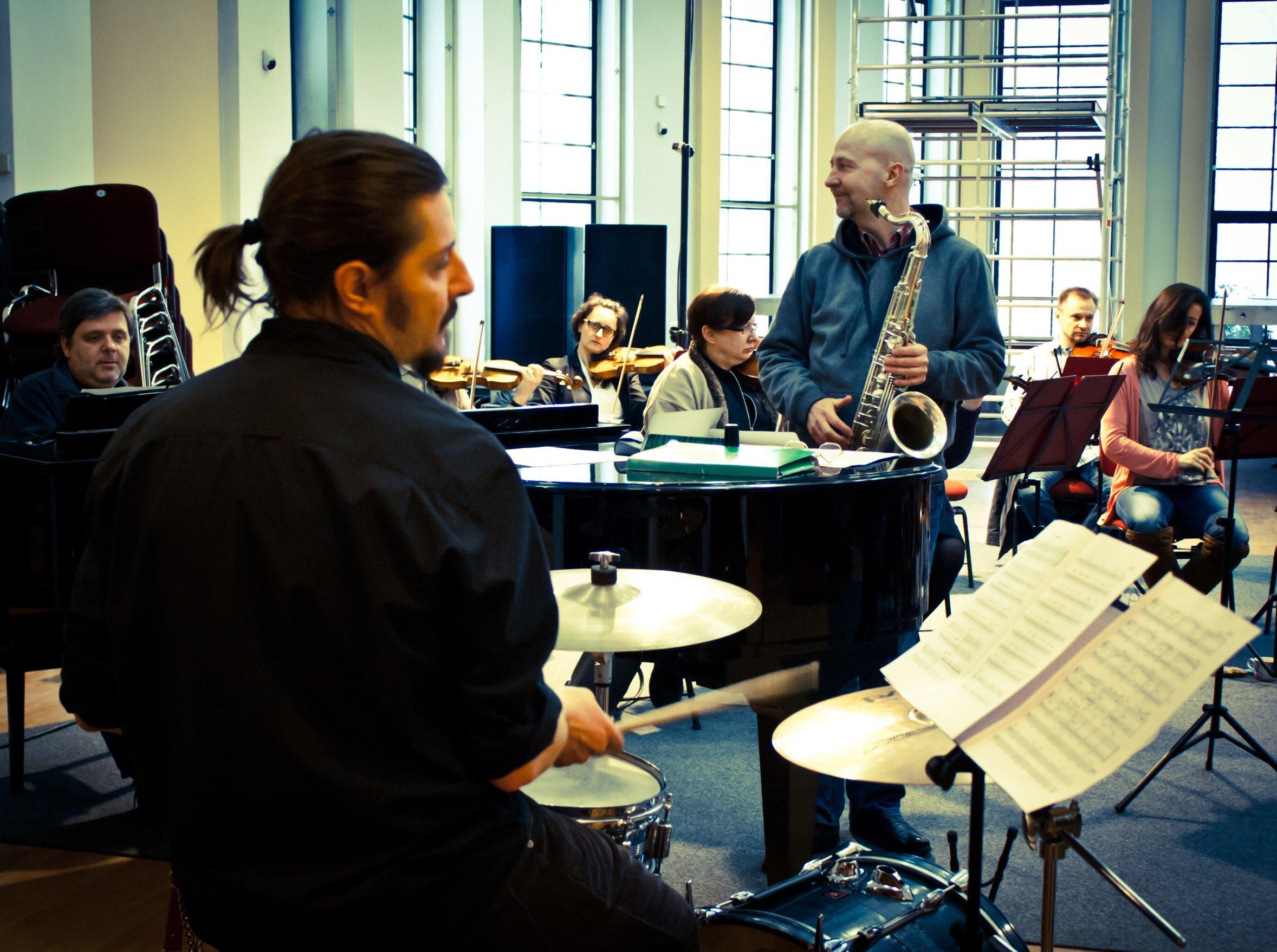 Tranquillo – próba przed koncertem w 1LO w Sopocie.Tranquillo – rehearsal.